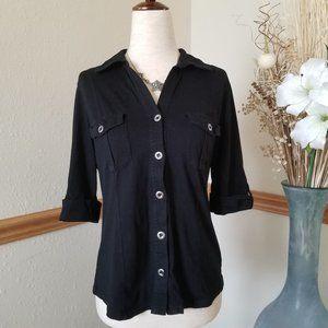 Style & Co. Black Button Down Shirt